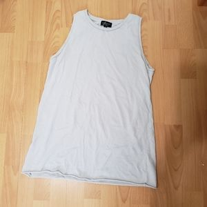 Topshop light gray muscle tee